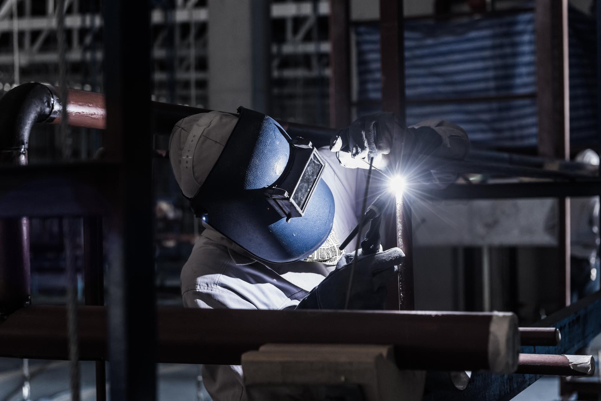 Welder repairing